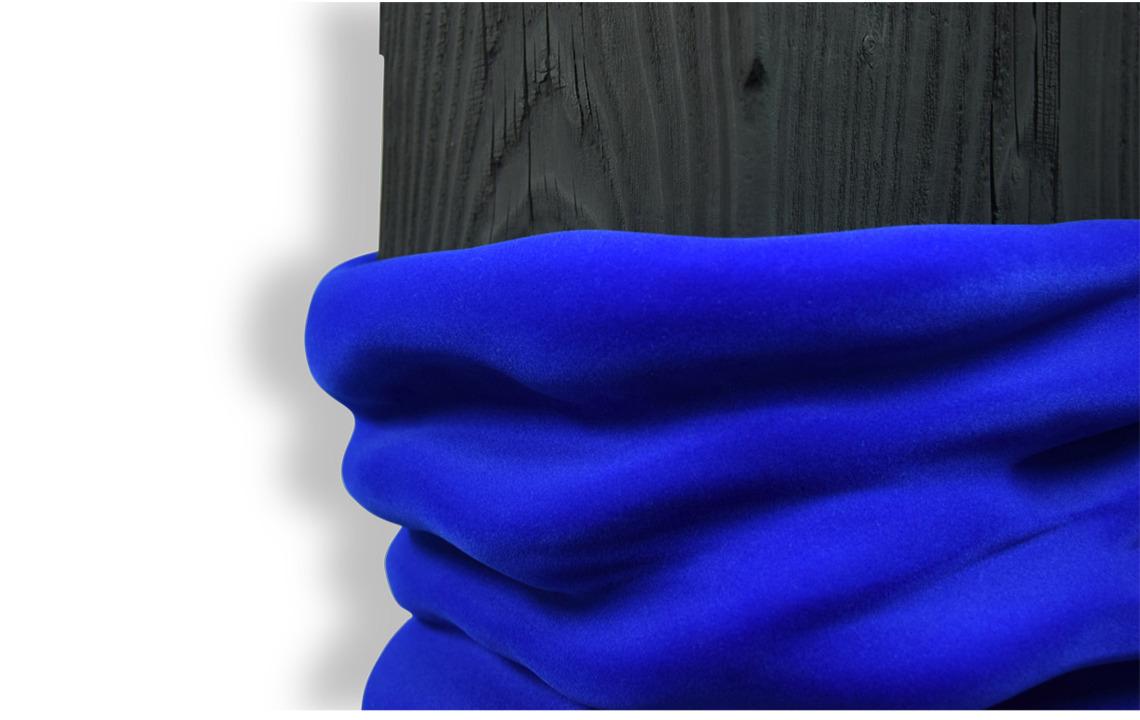 monochrome black noir bleuklein velours ouate sculpture treeheart