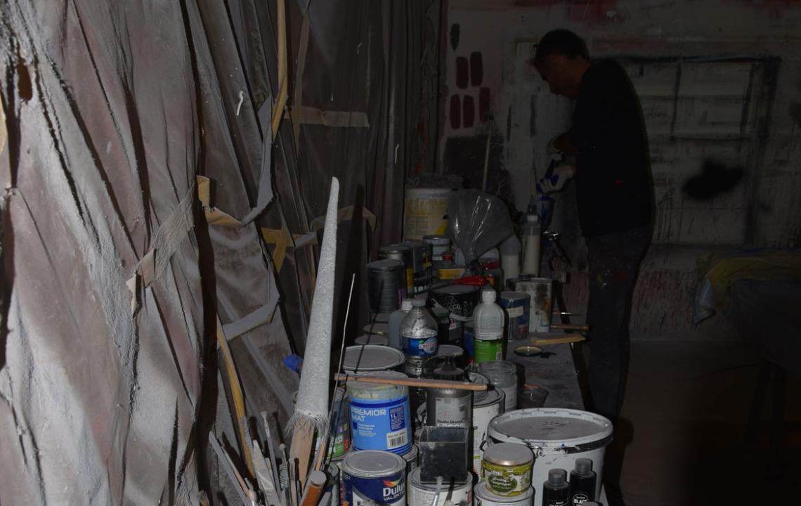 Etabli, peinture, pinceau, outils , art , couleur, pigments
