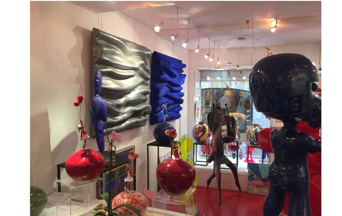 galerie joel guyot saint paul de vence didmoreres monochromes oeuvres tableau sculpture bleu klein zinc soulages art artiste