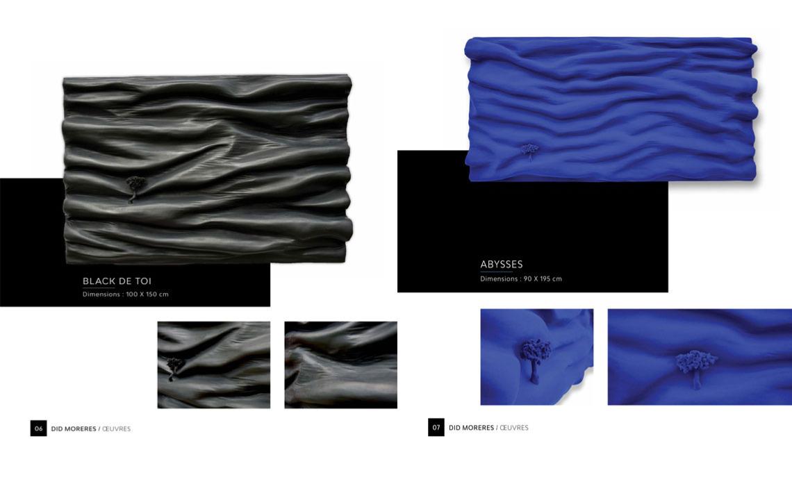 didmoreres monochrome oeuvres tableau sculpture galerie honfleur saint paul de vence monochrome bleu klein Soulage