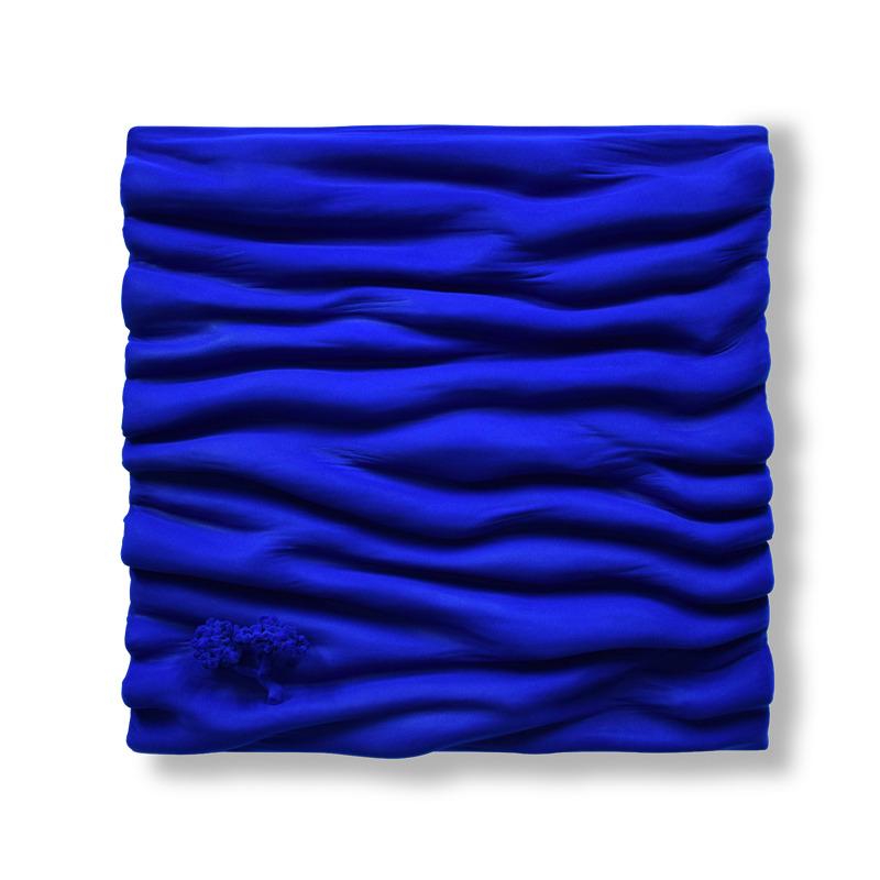 bleu bleu klein feutre monochrome matière vague oeuvre art did moreres artiste