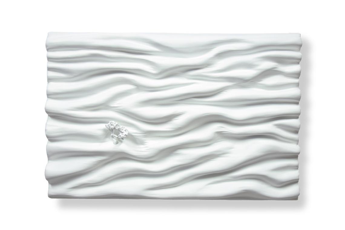 blanc immaculé pure monochrome matière vague oeuvre art did moreres artiste