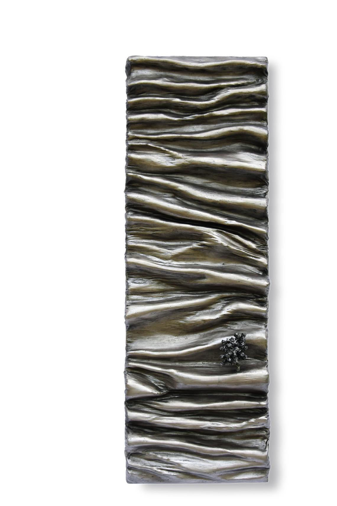 argent métal monochrome matière vague oeuvre art did moreres artiste