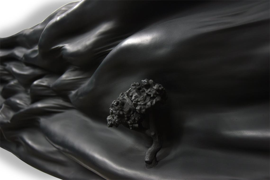 black monochrome soulages matière vague oeuvre art artiste