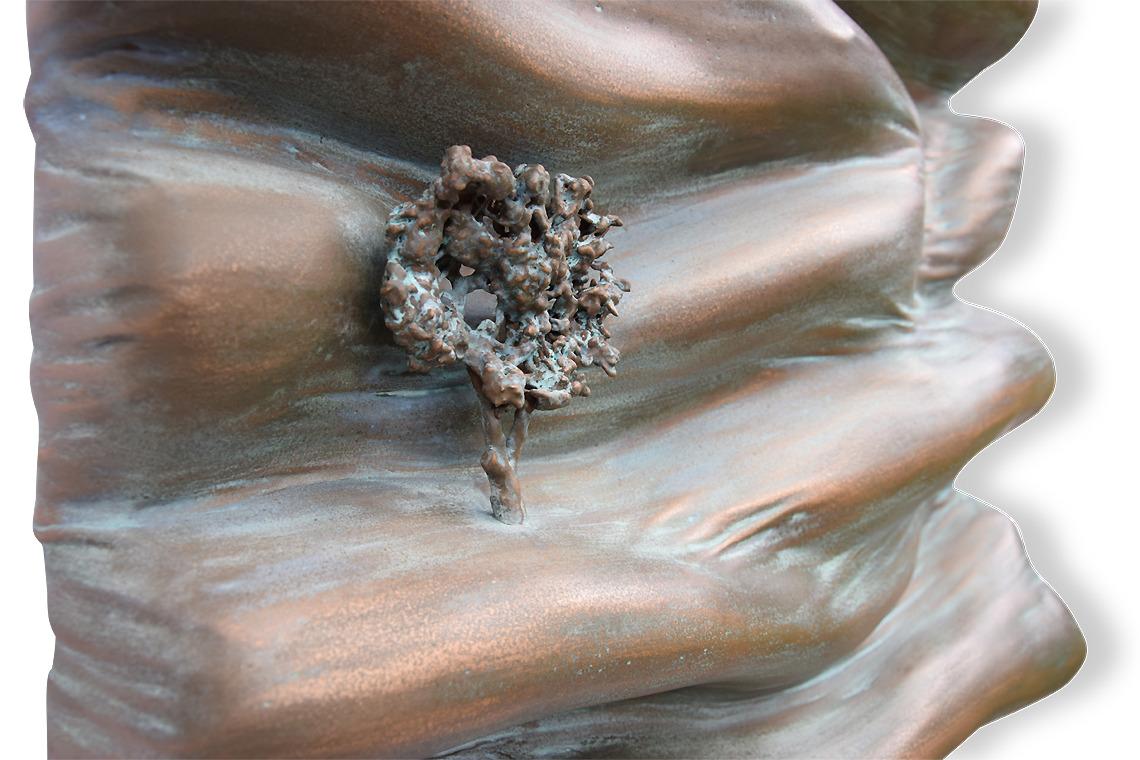 poudre de bronze monochrome matière vague oeuvre art did moreres artiste