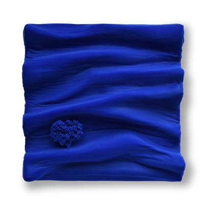bleu klein profond pure monochrome matière vague oeuvre art did moreres artiste