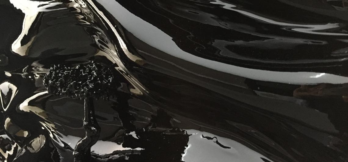 laque brillante noire black didmoreres tableau sculpture arbre tree art