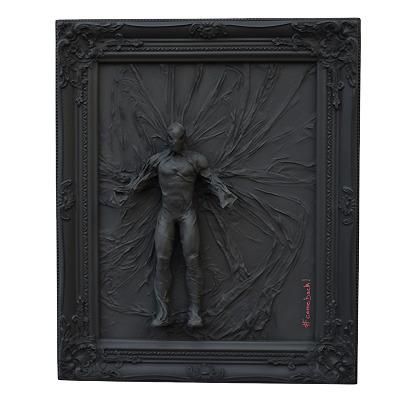 marvel speederman black monochrome hastag # didmoreres art artiste peinture tableau
