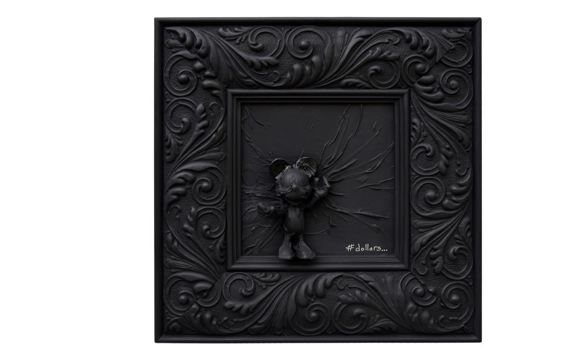 pop art mickey mini dysney art artiste monochrome black dollars
