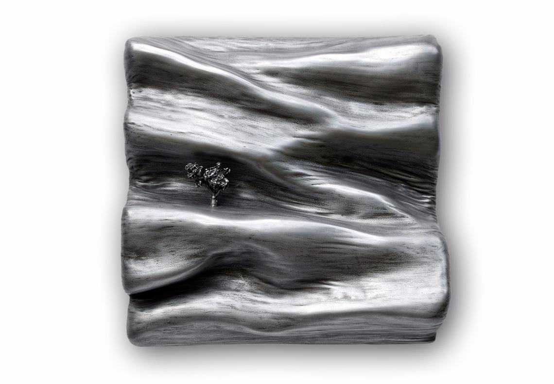 creation artistique sculpture poudre de zinc matière