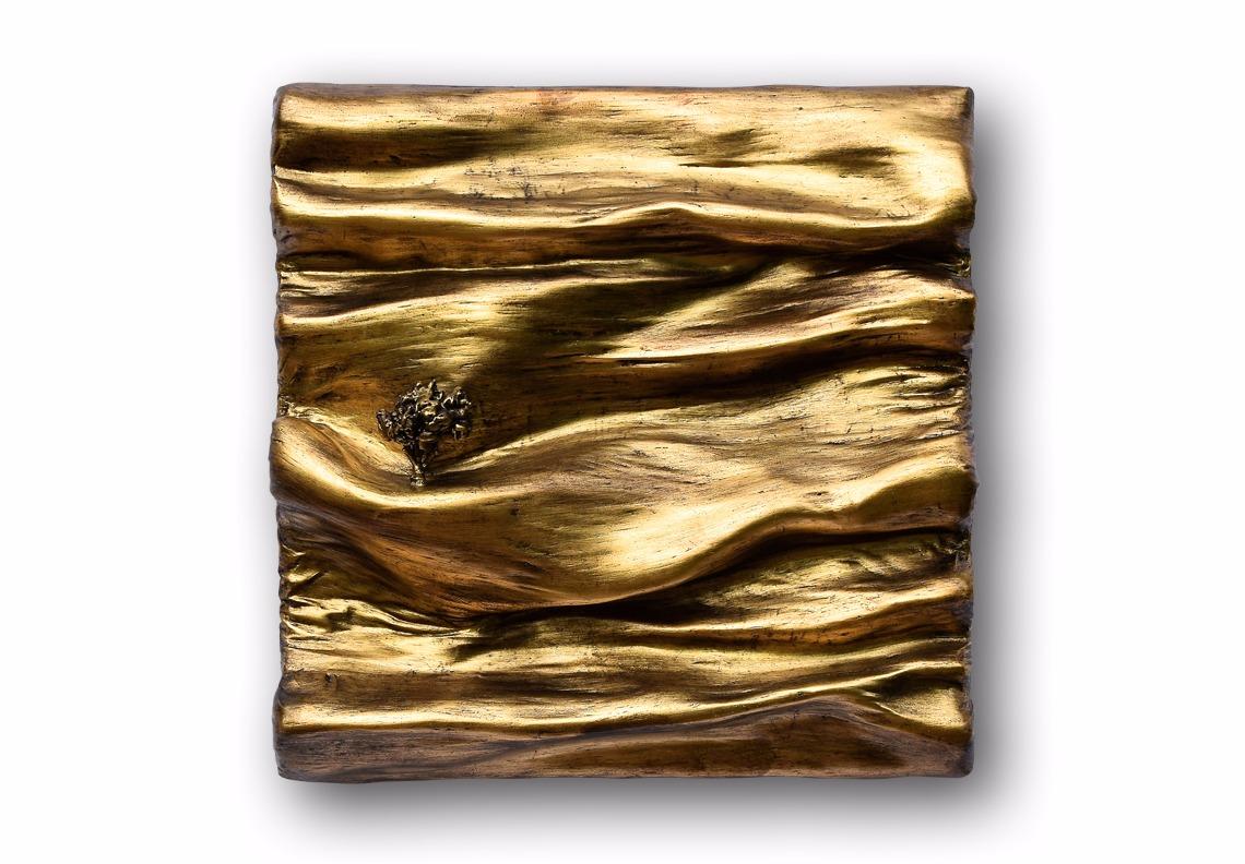 tableau cuivre or sculpture par Did Morères Bicom galerie Artiane galerie art
