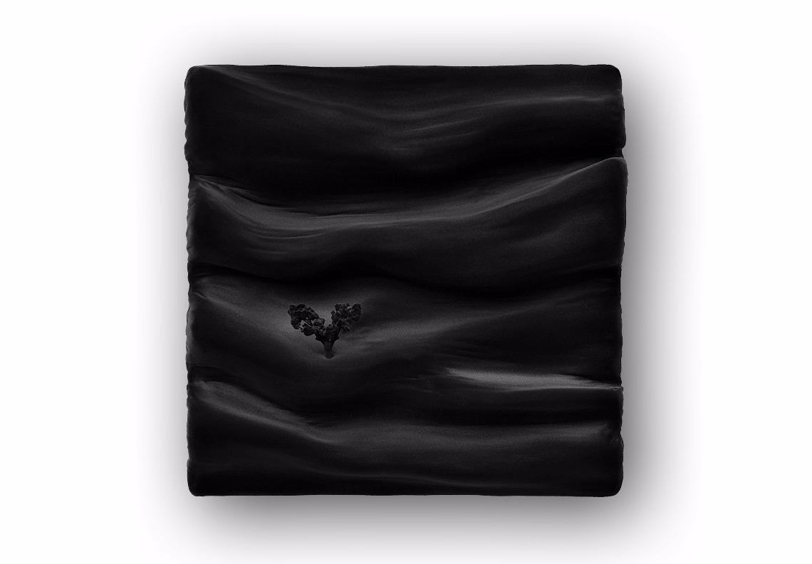 tableau contemporain monochrome flocage noir Soulages par Did Morères