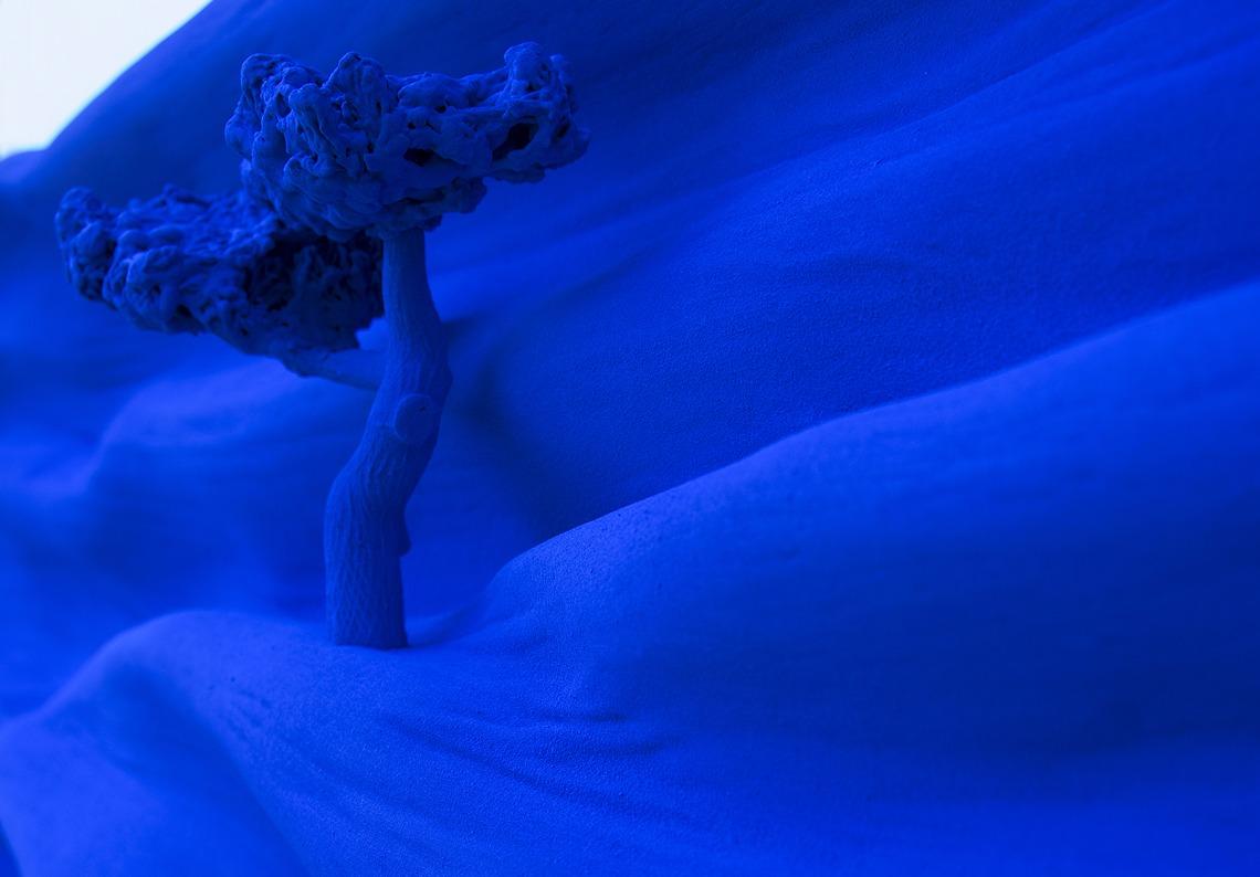 arbre zoom matiere bleu klein