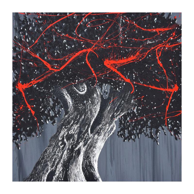 tree art street art arbre forêt végétation nature toile treeheart tableau décoration galerie artiste acrylique artiste peinture