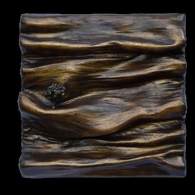 monochrome matiere sculpture or patine arbre tree art