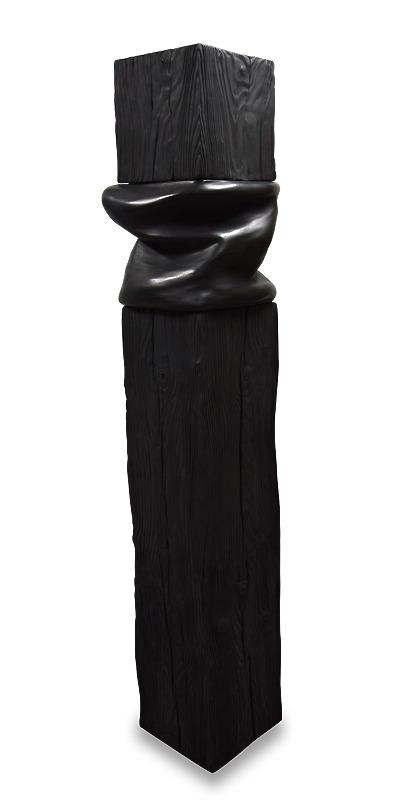 sculpture noir black monochrome wood art artiste