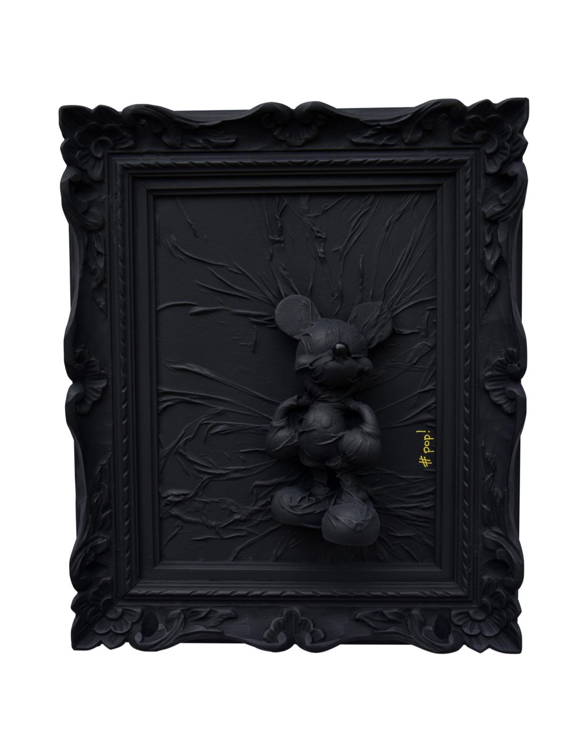 pop mini mickey disney black monochrome art street art did morères  treeheart