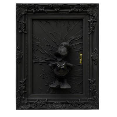 donald pop art disney comics black monochrome artiste oeuvre tableau