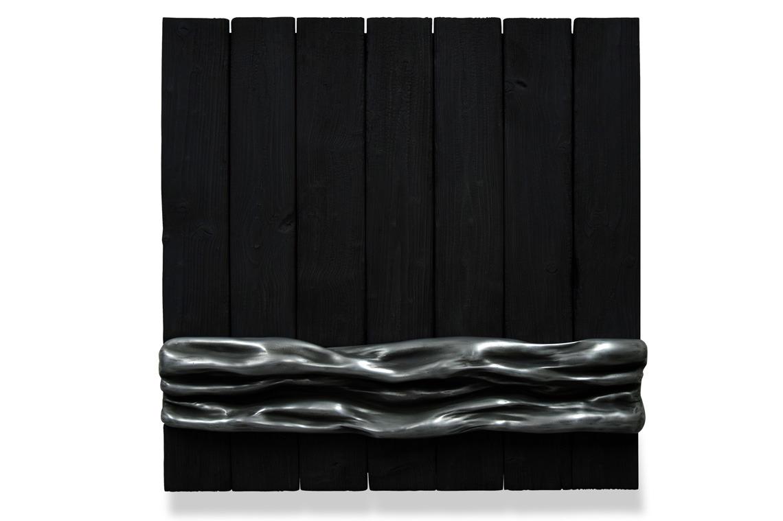 matiere bois brulé zinc monochrome art artiste oeuvre